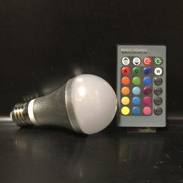 LED Lampa RGB till Ljusglob med fjärrkontroll